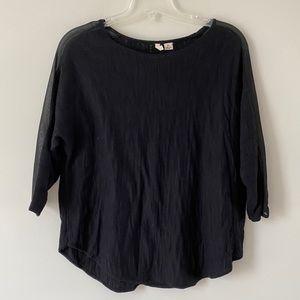 ANTHROPOLOGIE black moth blouse